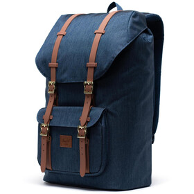 Herschel Little America Sac à dos, indigo denim crosshatch